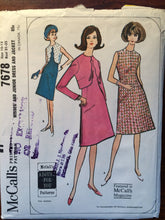 Load image into Gallery viewer, Vintage Sewing Pattern / 1960s Dress Pattern / Jacket Pattern / McCall's 7678 / Size 10-12 Bust 31-32 / Scalloped Front Jacket / Shift Dress