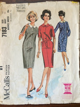 Load image into Gallery viewer, 1960's Dress Pattern / Vintage Sewing Pattern / McCall's 7183 / Size 14 Bust 34 / Simple Dress Pattern / Sheath Dress Pattern / Shirt Dress