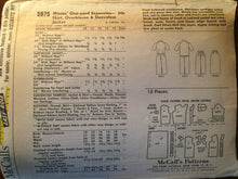 "Load image into Gallery viewer, Vintage 1960 McCall's Misses' One Yard Separates Pattern #5975 Size 13 Bust 33""  Vintage McCall's Pattern / 60s McCall's /"