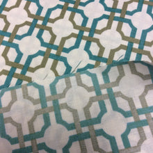 Load image into Gallery viewer, Lattice Print - So Chic in Aqua by Quilting Treasures - 1 Yard - Cotton Fabric / Fabric by Yard / New Fabric / Quilting Cotton