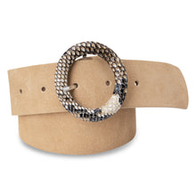 Lade das Bild in den Galerie-Viewer, Suede belt with snake skin buckle