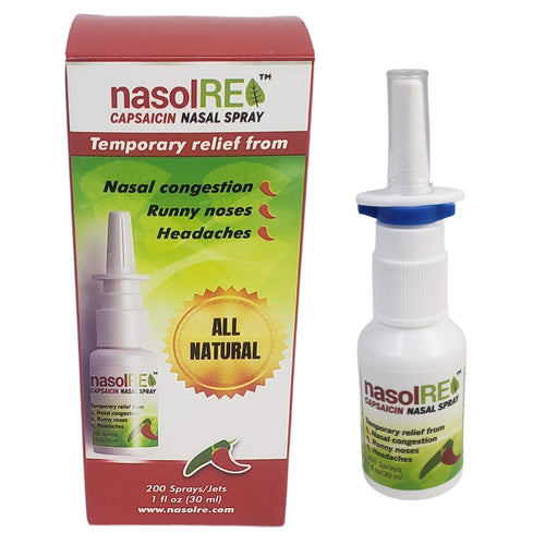 Nasol, Shown with Bottle and Packaging, NasolRE