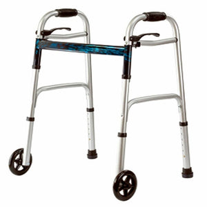 Folding Walker w/ Wheels & Skis