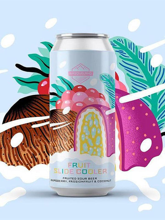 Basqueland - Fruit Slide Cooler - Raspberry Passionfruit and Coconut Sour - Craft Beer - The Craft Bar
