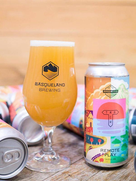 Basqueland x Track - Remote Play - Triple IPA - Craft Beer - The Craft Bar