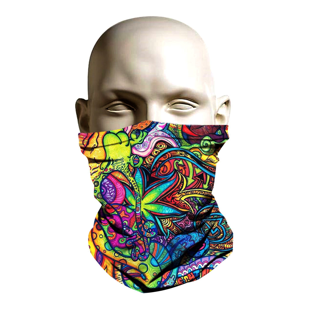 Ski Mask face shield - Phys-co Delic design