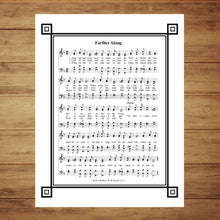 Load image into Gallery viewer, Farther Along  With Decorative Trim Hymnal Wall Art