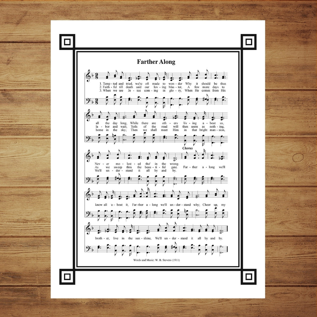 Farther Along  With Decorative Trim Hymnal Wall Art