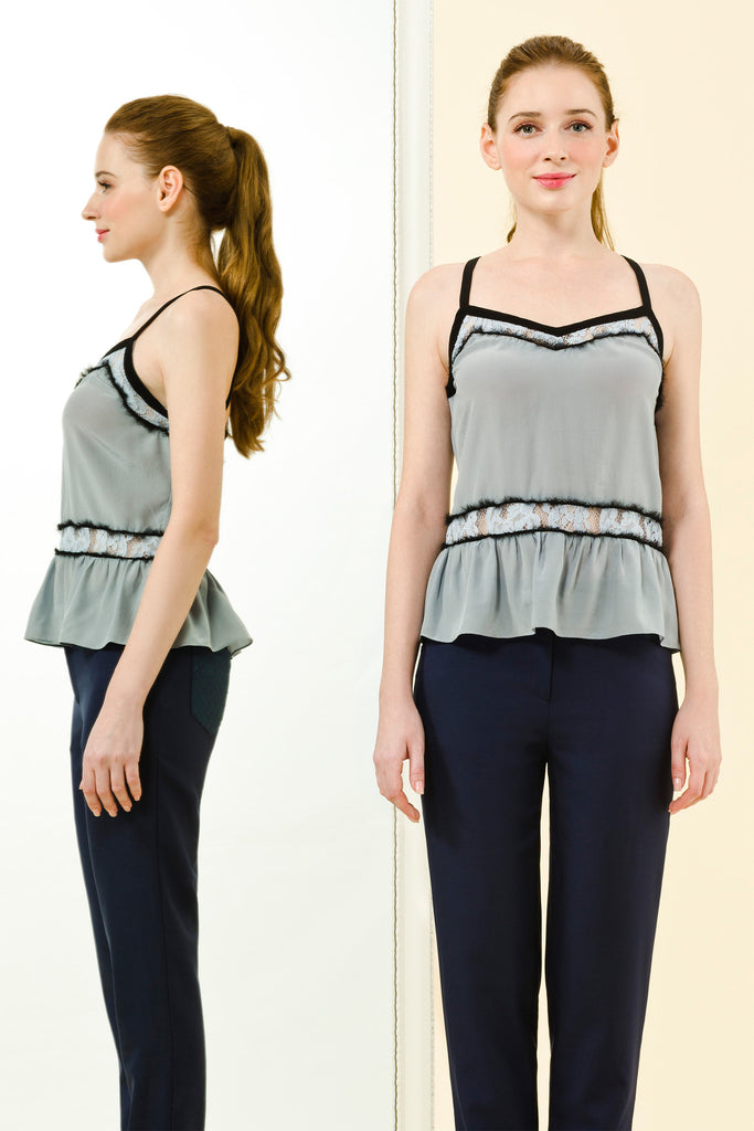 NICOLETTE TOP - BLUE
