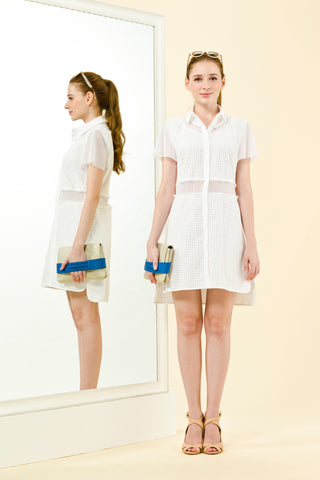 NICOLE DRESS - WHITE