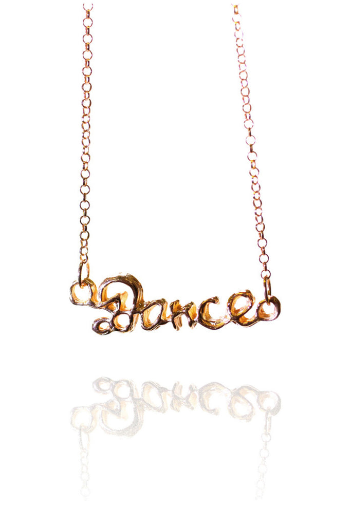 ROSE GOLD DANCE PENDANT NECKLACE