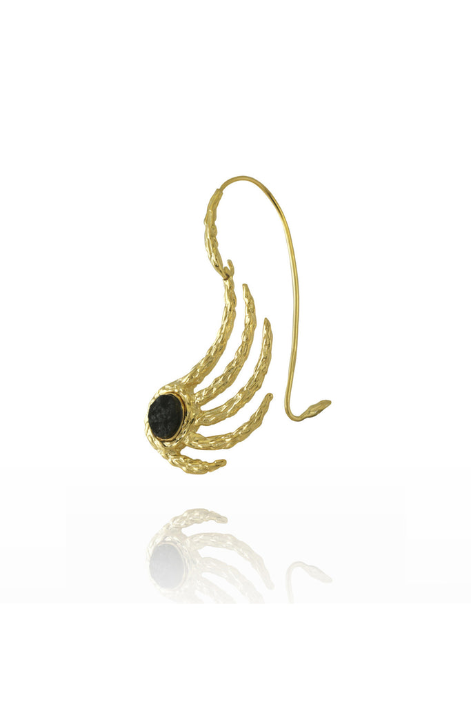 EXTRATERRESTRIAL YELLOW GOLD EAR CUFF