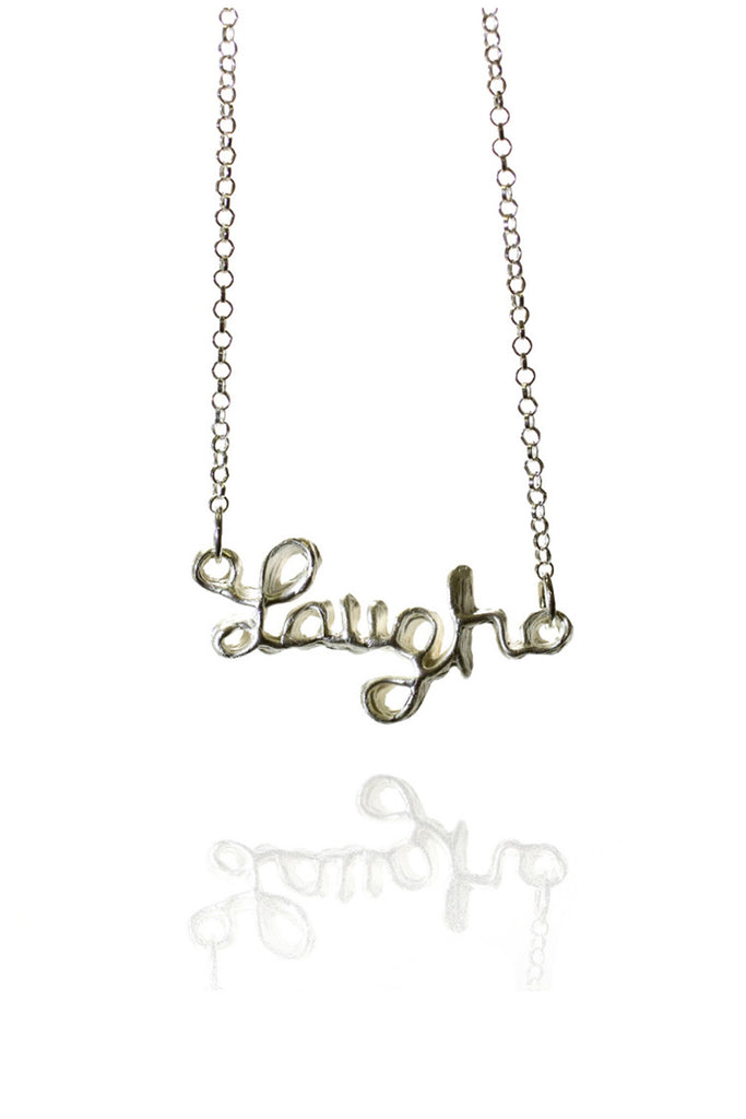 SILVER LAUGH PENDANT NECKLACE