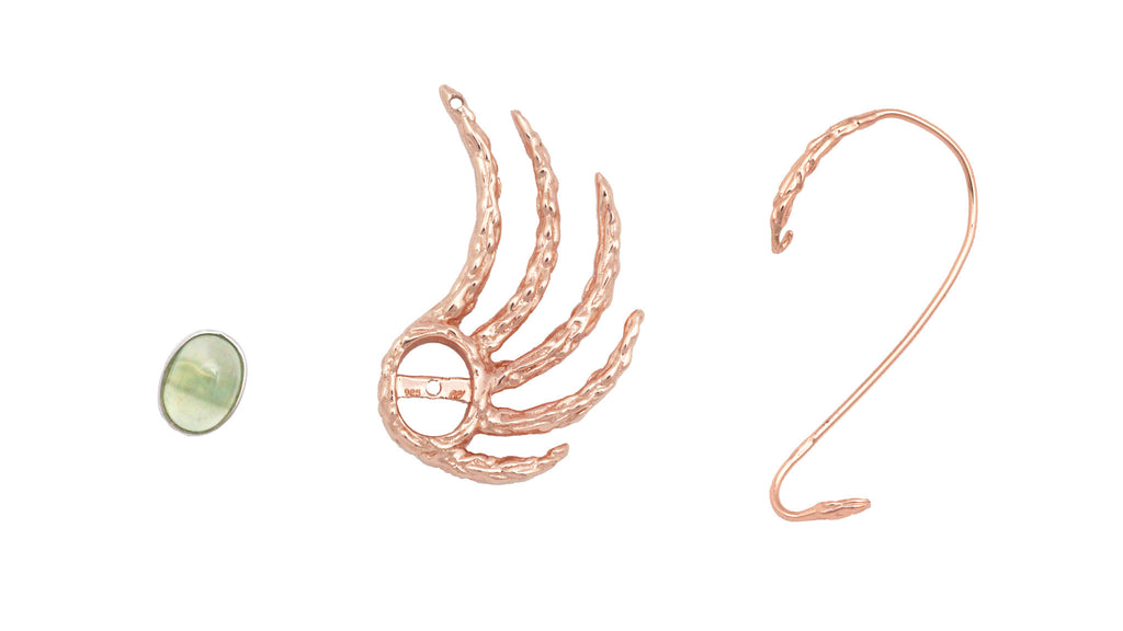 EXTRATERRESTRIAL ROSE GOLD EAR CUFF