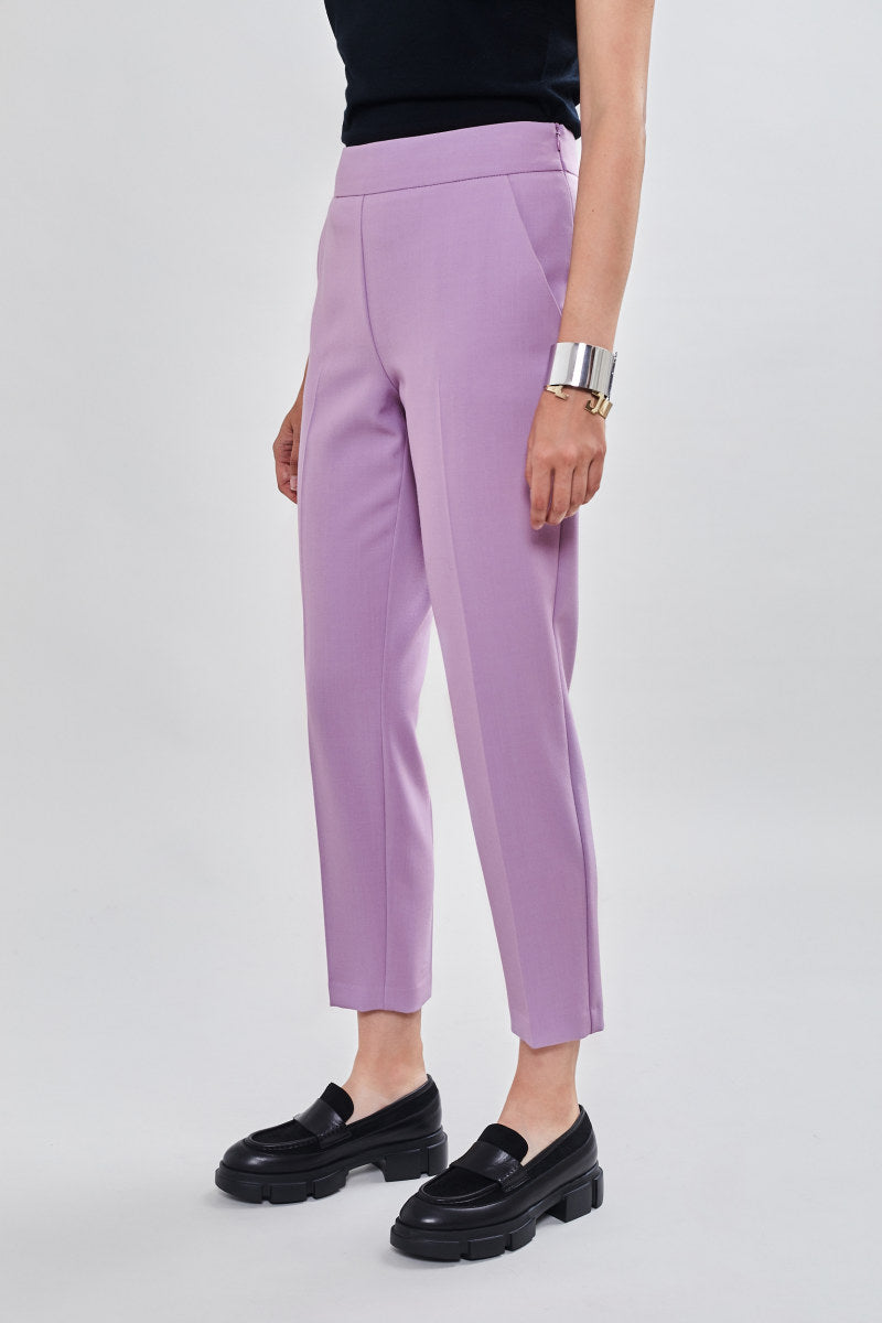 PANTALONI SMOKING 42 / LAVANDA