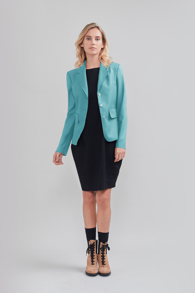 BLAZER CROPPED CON BOTTONI 38 / SALVIA