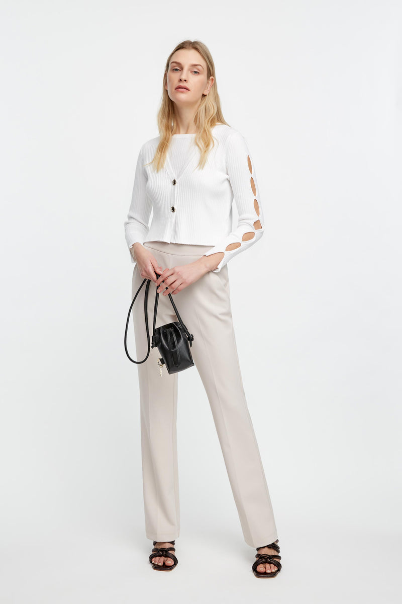 MAGIA CROPPED CON CUT-OUT 42 / BIANCO