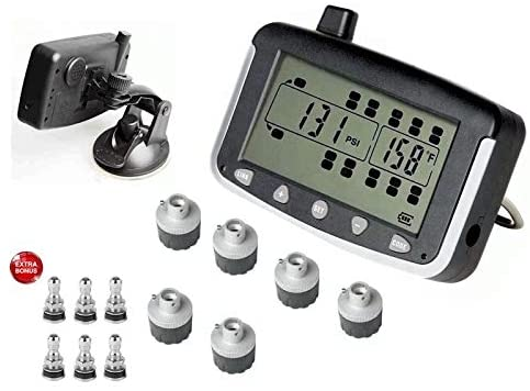 VISTA, RV MOTORHOME TRUCK TRAILER TPMS 6 WHEEL SYSTEM WITH BONUS TIRE VALVES