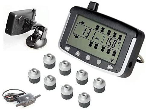 VISTA, RV MOTORHOME TRUCK TRAILER TPMS 8 WHEEL SYSTEM WITH SIGNAL BOOSTER