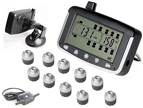 VISTA, RV Motorhome Truck Trailer TPMS 10 Wheel System with signal Booster