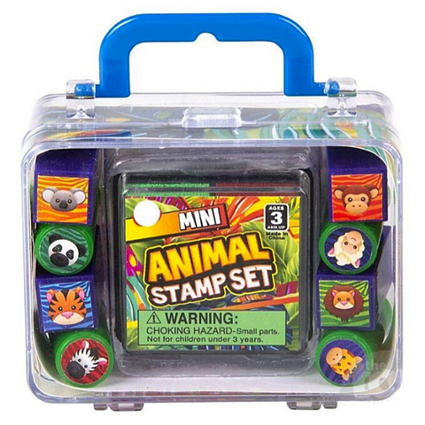 Ink Stamp Set For Kids STEAM Learning Classroom Toy Animals Themed