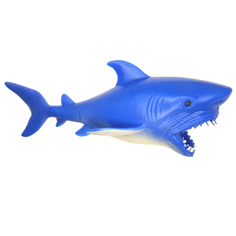 Animal Life Alligator Toy Sea Life Squeezable Shark Filled With Fine Sand Moldable 8 Inch Long
