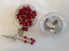 Load image into Gallery viewer, Rosary in Deep Red