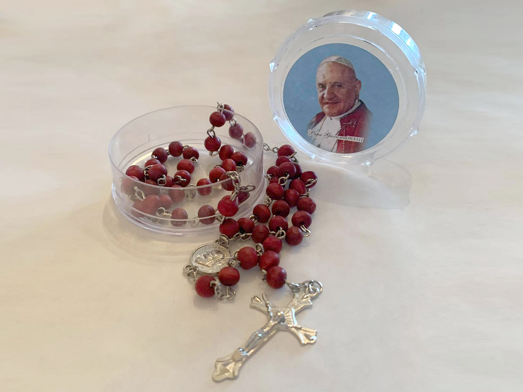Rosary in Deep Red