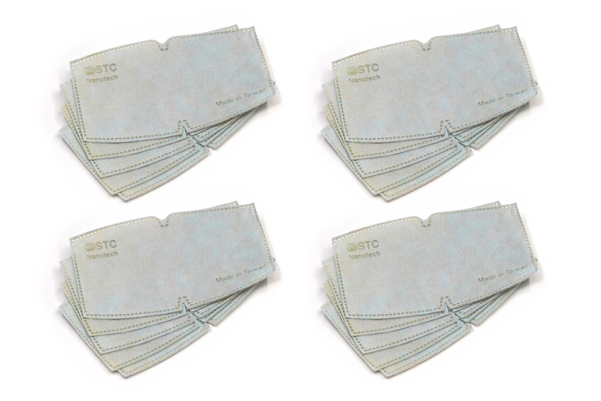 Antimicrobial Mask Filter Inserts: Family 20 Pack