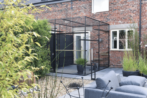 Cat Cage: Catio on Hard Landscaped Patio