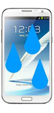 Samsung Galaxy Note 2 Liquid Damage Repair
