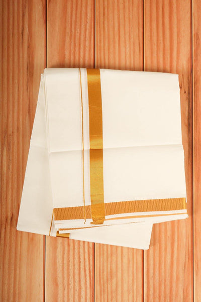 Cotton dhoti - rajmahalsilk