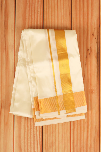 Sandle Silk dhoti - rajmahalsilk