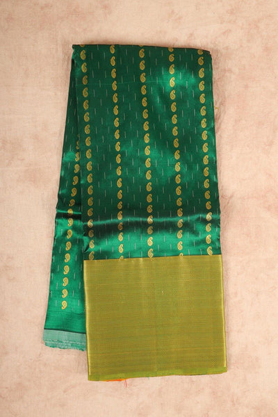 Dark green silk pattu pavadai material - rajmahalsilk