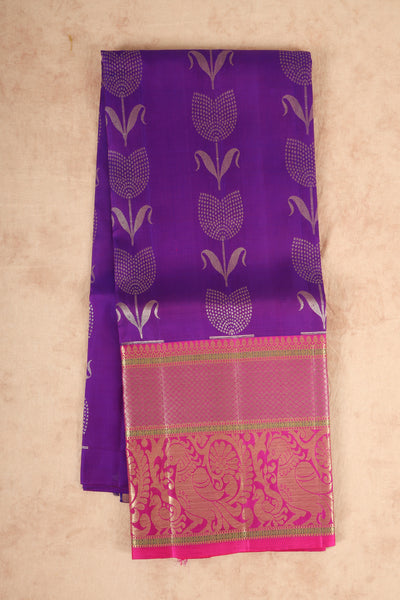 Purple with pink pure silk material pattu pavadai - rajmahalsilk
