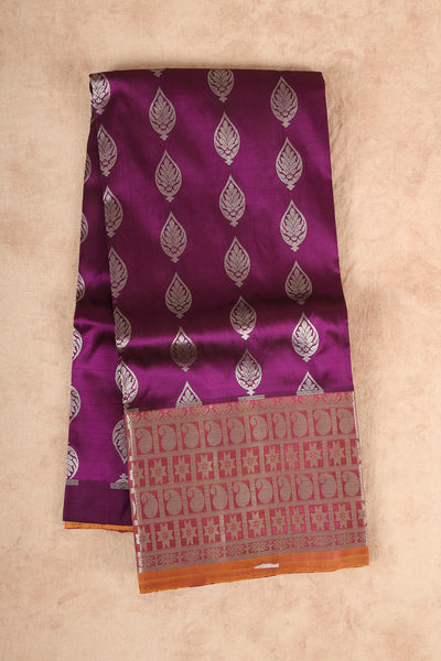 Purple pure silk pattu pavadai material - rajmahalsilk
