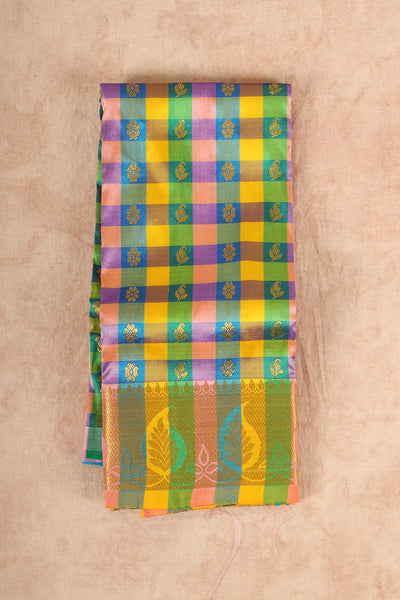 Multiple cheaked pure silk pattu pavadai. - rajmahalsilk