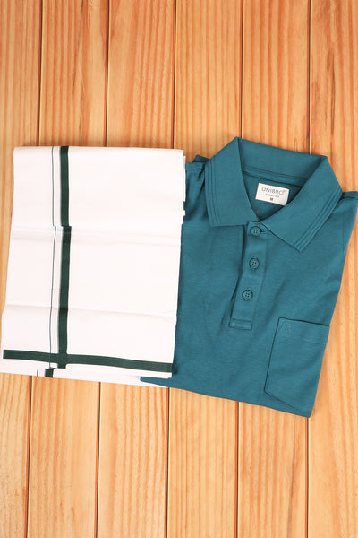 T-shirts with dhothi matching combo set - rajmahalsilk