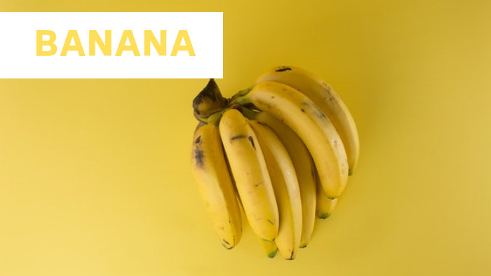 bunch of banana with text