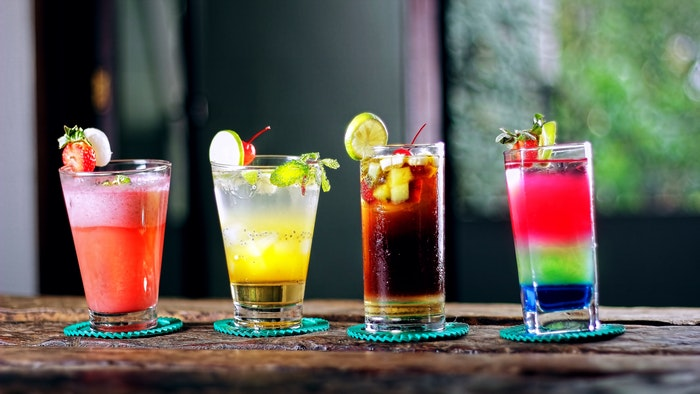 mock tail glasses