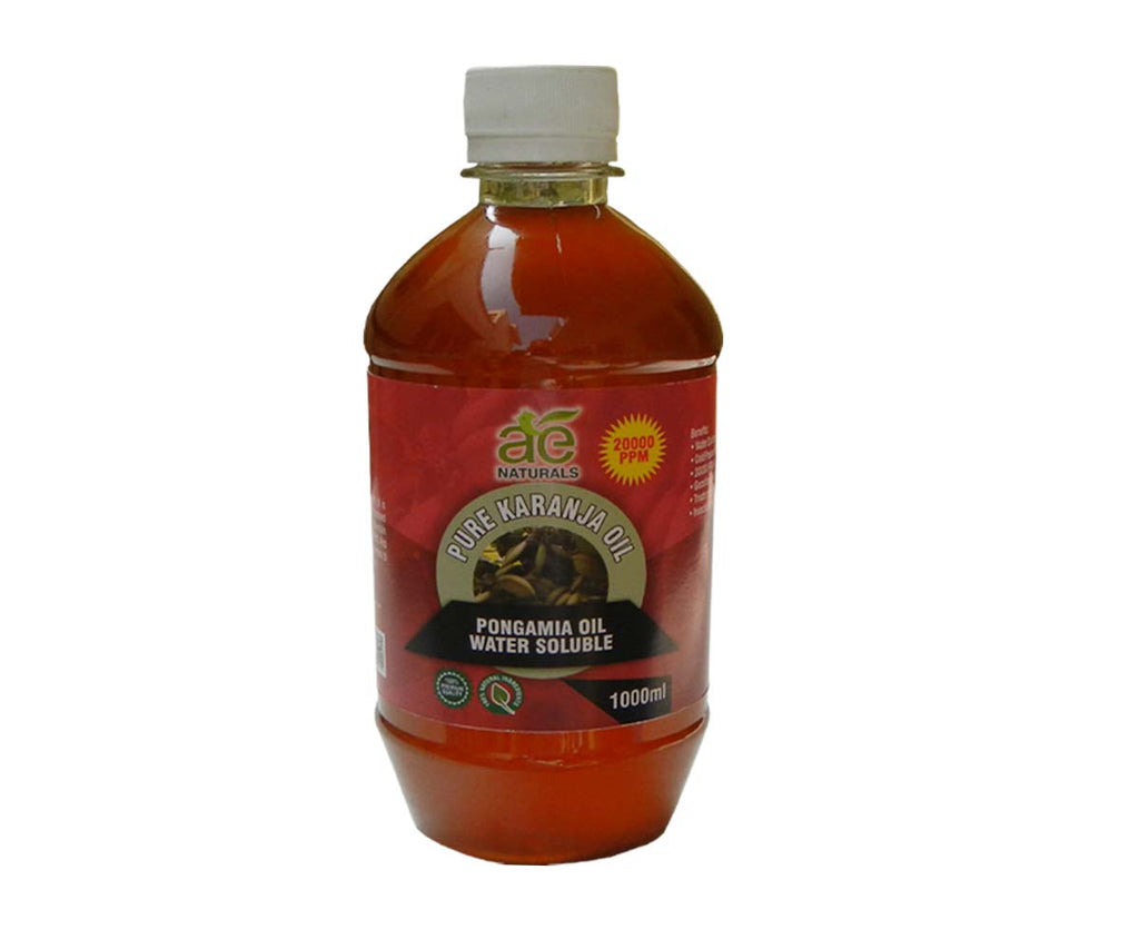 AE NATURALS Pure Karanja, Pongamia Oil Water Soluble 1000ml