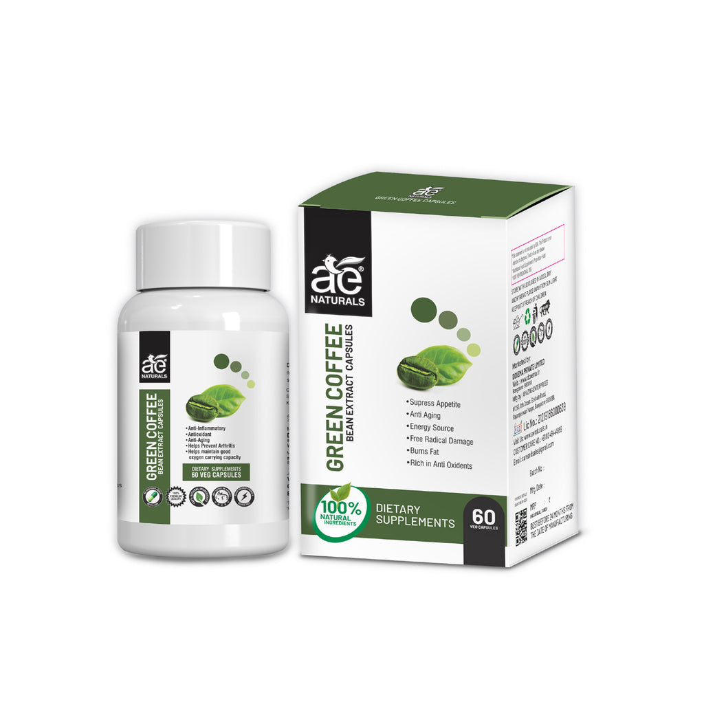 AE NATURALS Green Coffee Bean Extract Capsules 60 Caps