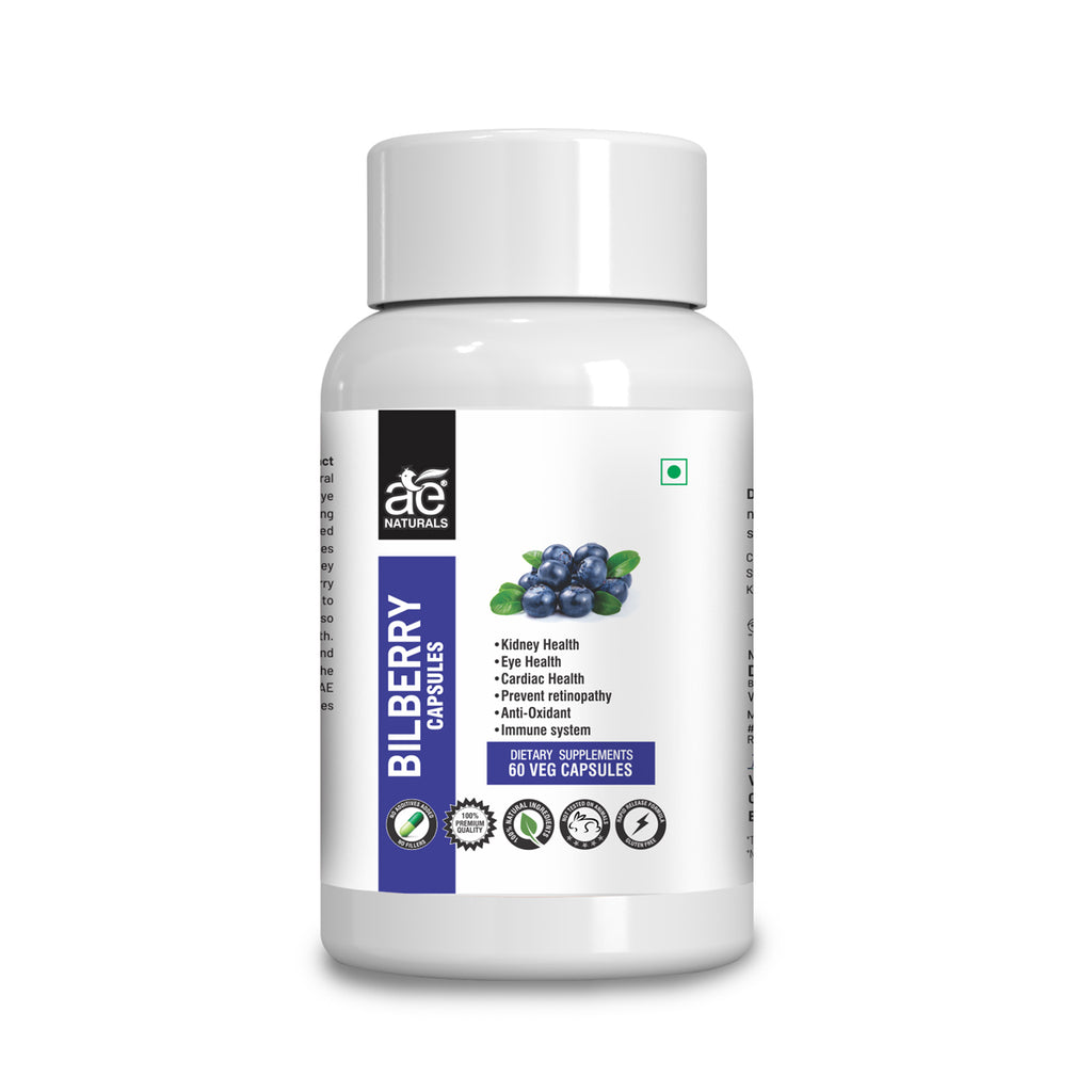AE Naturals Bilberry Exract Capsules For Eye Health 60 Caps