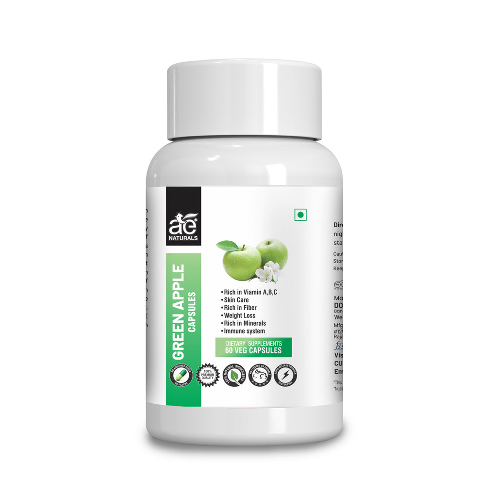 AE NATURALS Green Apple Extract Capsules 60 Caps