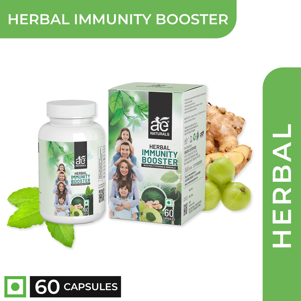 AE Naturals Herbal Immunity Booster With Multi Vitamins And Minerals 60 Caps