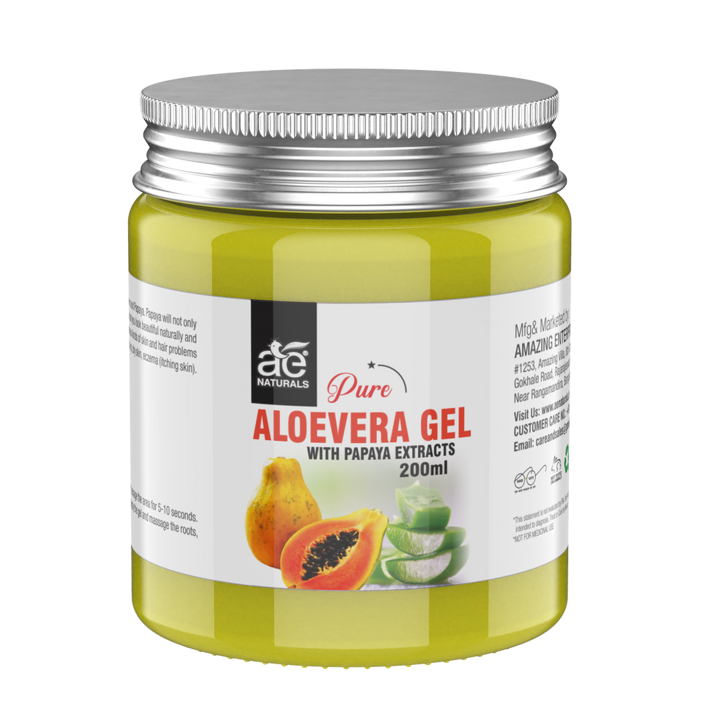 AE Naturals Pure Aloevera Gel With Papaya Extracts 200ml