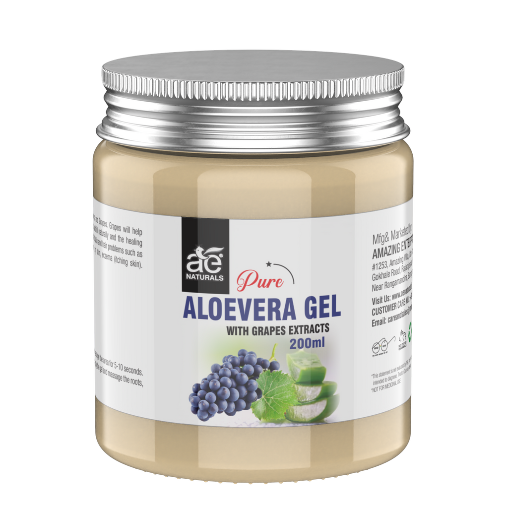 AE Naturals Pure Aloevera Gel With Grapes Extracts 200ml