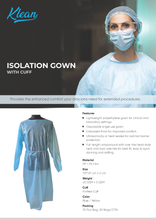 Load image into Gallery viewer, [KLH1017] Isolation Gown With Cuff - 10 Pcs/Bag