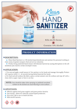 Load image into Gallery viewer, [KLH-HS2] Klean Hand Sanitizer - 500 ml