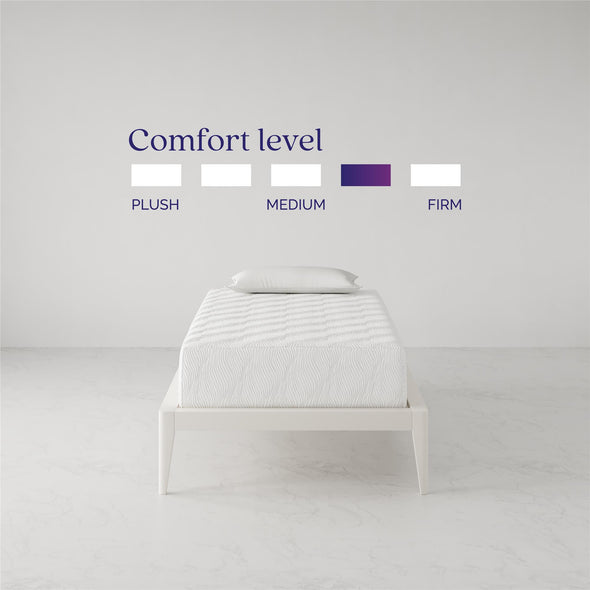 Memoir 12 Inch Memory Foam Mattress - White - Twin